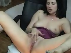 Smoking and masturbating cam show