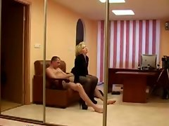 Explicit banging in the office caught on spy cam