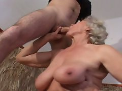 Light-haired granny banging dude