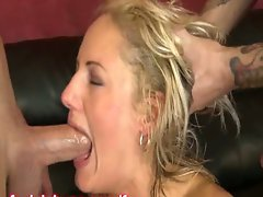 Double penetrated mega big melons light-haired hustler