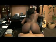 Black slutty girl gets mad and moves her massive bum