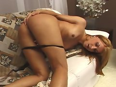 Amateur lewd blondie gets stuffed with a huge pole