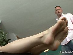 Melody uses her feet to get what she wants