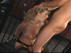 Big titted tempting blonde probes she is a insatiable whore