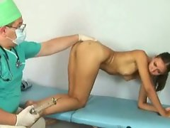 Filthy gynecologist examines 19 y.o. lady lena