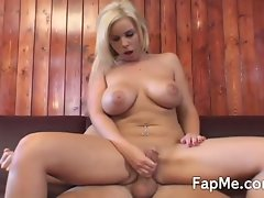 Big tit girlie is addicted to a extremely big cock