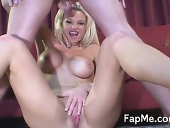 Whorish mommy blondie accepts care of a thick lewd rod
