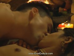 Erotic kama sutra man and slutty girl make love