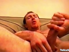 Amateur and kinky bear caresses his penis