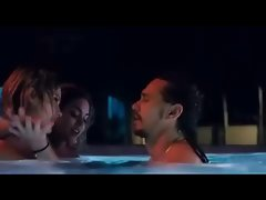 Vanessa Hudgens Crazy threesome action in Pool