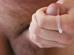 Another closeup cumshot circumcised phallus