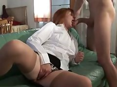 Well Stuffed Experienced French Redhead