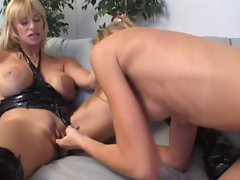 Attractive mature Kat Kleevage and 18yo Lisa Marie Lesbo Lovers