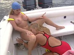 randy chicks eating on the boat
