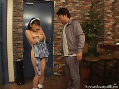 Seductive japanese Bar Maid Gets Banged And Cumloaded