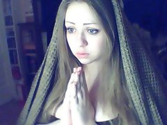 Slutty russian Christian Blue-Eyed Dark Tempting blonde Lady believes in God