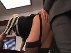 Attractive Buxom Secretary Brutal Screwed by Boss