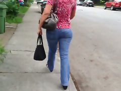 Beurette butt candid walking
