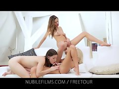 Nubile Films - Lesbo triplet leaves gfs tremblin