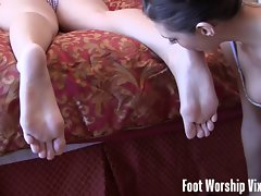 Sneaky foot worship performance
