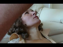 Dirty wife accepts deep throat, facial