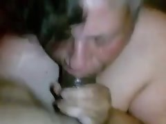 Granny licks a 19 years old black
