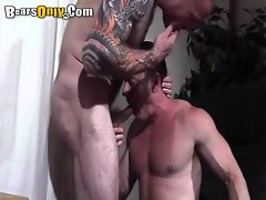 Tattooed Daddy Prick Feeding Frenzy