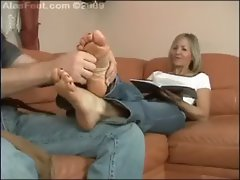 rubbing the feet
