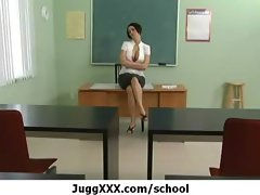 Mega big melons at school - Sensual teacher on sensual stud 13