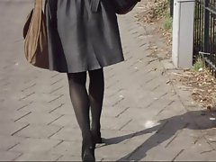 Office Lady Sensual Legs Walking