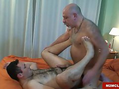 Sensual daddy bear barebacking