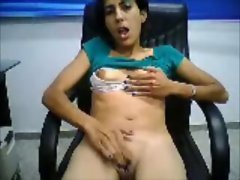 mexican chick masturbating on cam for guy
