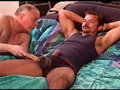 Bashing bottoms balls through his briefs