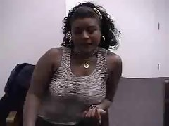 Audition #41 (23 y.o. Curvy Slutty ebony Girl)