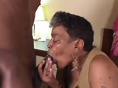 Lustful ebony Grannie suck and fuck 18 years old BBc