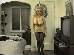 Danni Ashe Accepts Off Her Bra And Skirt Showing Pantyhose