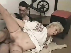 Great aged whore receives penis in her dripping vagina