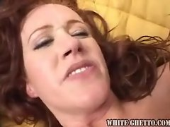 Redhead opened up with butthole screw