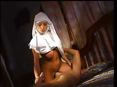 Alluring nun absolutely wants backdoor sex with the lad