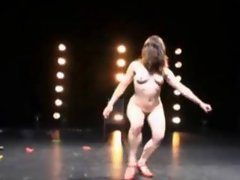 Strange dancing from nude cuties