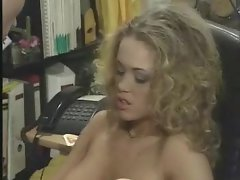 In his office he bones a extremely filthy blondie chick