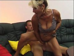 Screwing his aunt with his xxl big cock