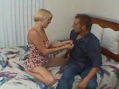 Arousing blond and her lust for a huge pecker
