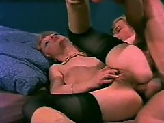 Retro cock sucking and group bum porn