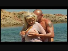 Huge titty blond grinded on sexual beach