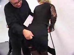 Anus sex with their secretary in stockings