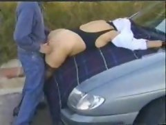 Several clips of this vixen out dogging