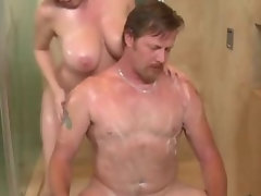 Filthy soapy handjob young lady