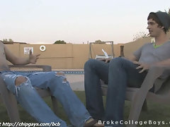 College young men Sean and Johnny get a nice talk