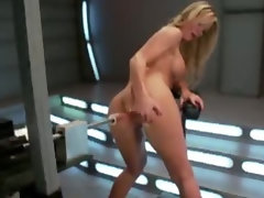 Powerful machines fuck her snatch n backside